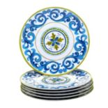 Certified International Blue Grotto 6-pc. Dinner Plate Set