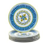 Certified International Blue Grotto 6 pc Salad Plate Set