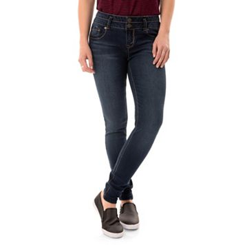 Juniors' Wallflower Legendary Curvy Low Rise Skinny Jeans