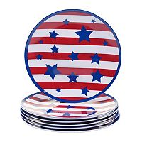 Certified International Stars & Stripes 6 pc Salad Plate Set
