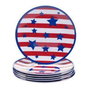 Certified International Stars & Stripes 6-pc. Salad Plate Set