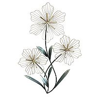 Stratton Home Decor Tri Flower Wall Art