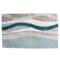 Saturday Knight, Ltd. Sketchbook Waves Tufted Bath Rug
