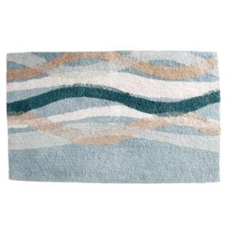 Saturday Knight, Ltd. Sketchbook Waves Tufted Bath Rug