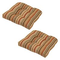 Plantation Patterns Outdoor Tufted Seat Pad 2-piece Set