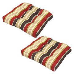 Plantation Patterns Outdoor Tufted Seat Pad 2 pc Set
