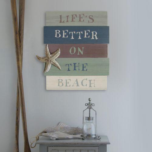 Stratton Home Decor Life's Better On The Beach Wall Art
