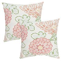 Plantation Patterns Printed Throw Pillow 2-piece Set