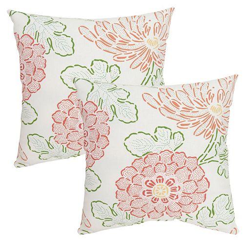 Plantation Patterns Printed Throw Pillow 2-piece Set