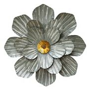 Stratton Home Decor Galvanized Flower Wall Art