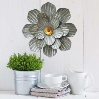 Stratton Home Decor Galvanized Flower Wall Art