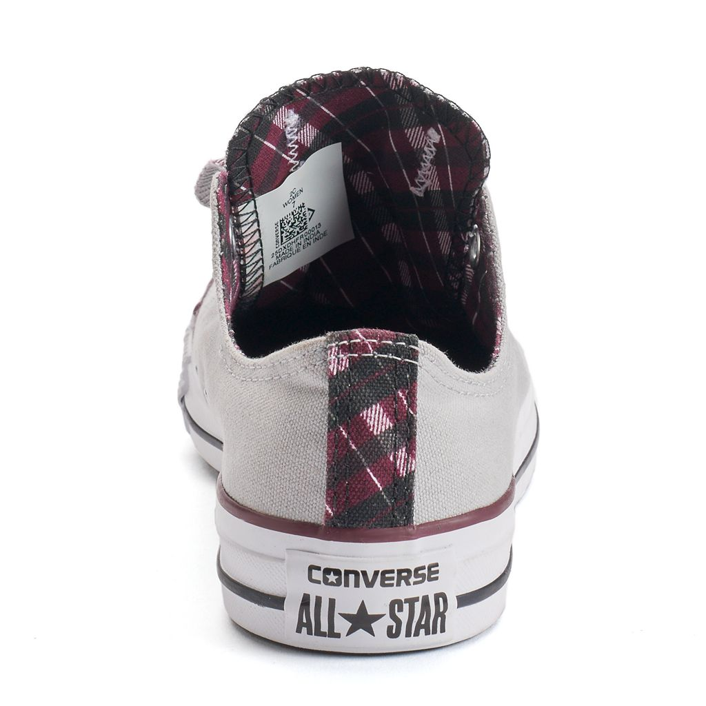 Women's Converse Chuck Taylor All Star Double-Tongue Plaid Shoes