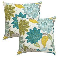 Plantation Patterns Outdoor Printed Throw Pillow 2 pc Set