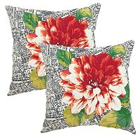 Plantation Patterns Outdoor Printed Throw Pillow 2-piece Set