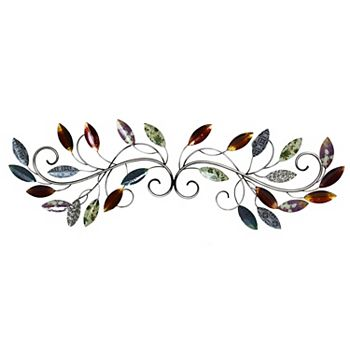 Stratton Home Decor Multi Leaf Scroll Wall Art