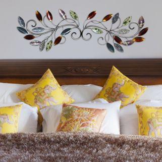 Stratton Home Decor Multi Leaf Scroll Wall Art