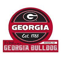 Georgia Bulldogs Tailgate Peel & Stick Decal