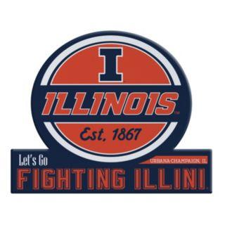Illinois Fighting Illini Tailgate Peel & Stick Decal