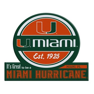 Miami Hurricanes Tailgate Peel & Stick Decal