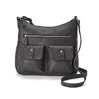 R&R Leather Pocket Tumbled Leather Hobo
