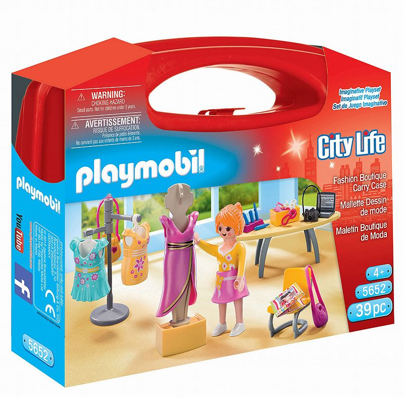 Playmobil Fashion Boutique with Carrying Case Playset - 5652, Multicolor