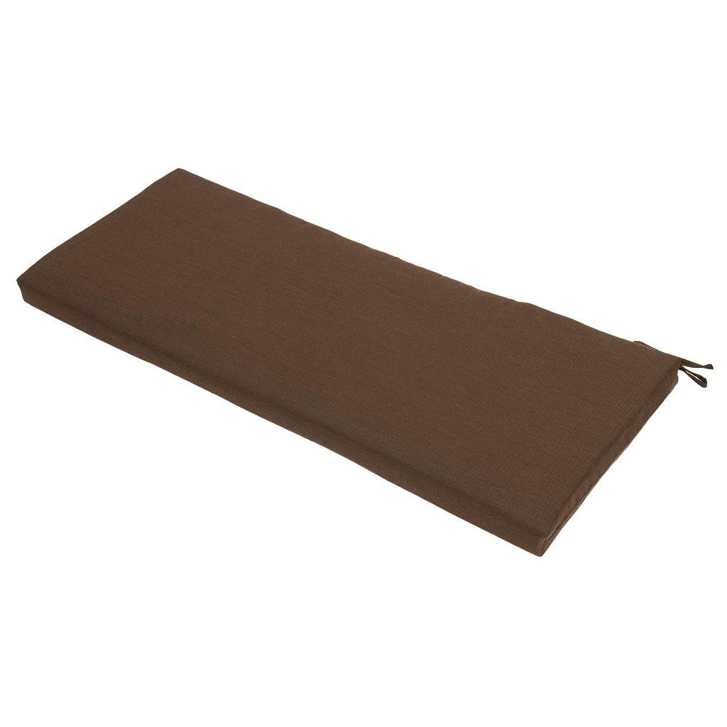 Plantation Patterns Espresso Textured Bench Cushion