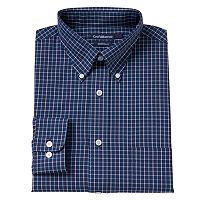 Big & Tall Croft & Barrow® Plaid Button-Down Dress Shirt