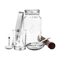Cathy's Concepts 6-pc. Monogram Mason Jar Mixology Cocktail Set