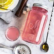 Cathy's Concepts 6 pc Monogram Mason Jar Mixology Cocktail Set