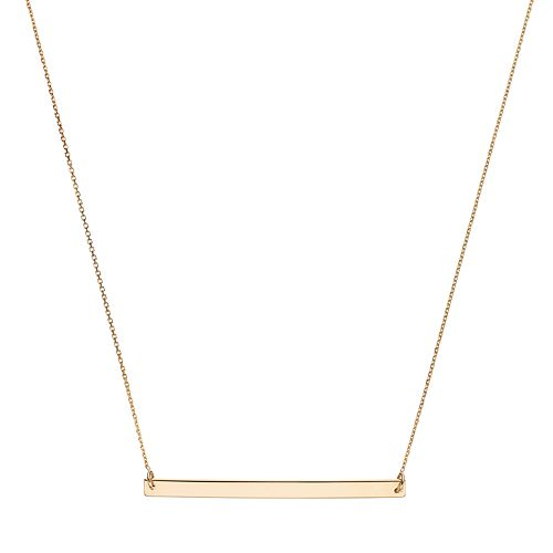 071a92c0f 14k Gold 40 mm Bar Necklace