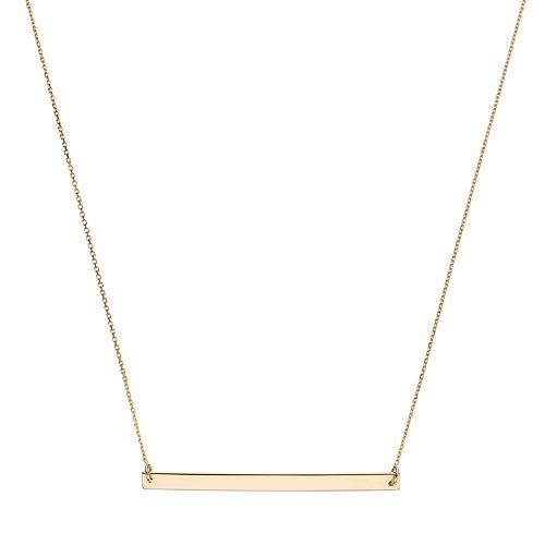 14k Gold 40 mm Bar Necklace