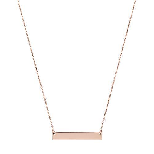 14k Gold 25 mm Bar Necklace