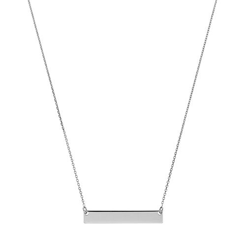 14k Gold 25 mm Bar Necklace