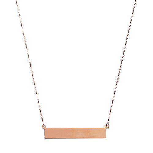 14k Gold 35 mm Bar Necklace