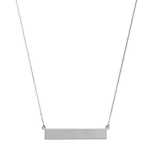 14k Gold 35 mm Bar Necklace