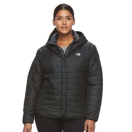 60081ea549f Plus Size New Balance Hooded Quilted Puffer Jacket