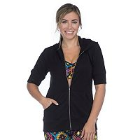 Women's PL Movement by Pink Lotus Criss-Cross Back Full-Zip Hoodie