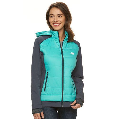 c84f612f Women's New Balance Hooded Colorblock Mixed-Media Jacket