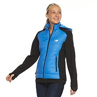 Women's New Balance Hooded Colorblock Mixed-Media Jacket