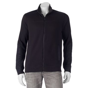 Men's Apt. 9® Modern-Fit Mixed Media Knit Jacket