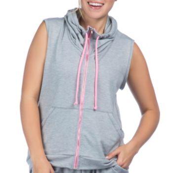 Women's PL Movement by Pink Lotus Cozy Hooded Full-Zip Vest
