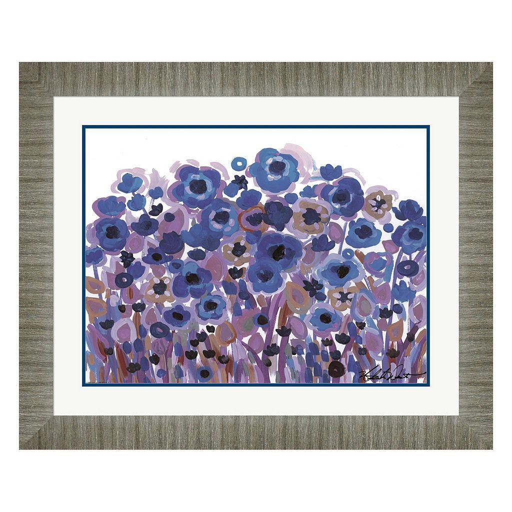Metaverse Art Brightly Blooming Framed Wall Art
