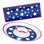 Certified International Stars & Stripes 2 pc Appetizer Set