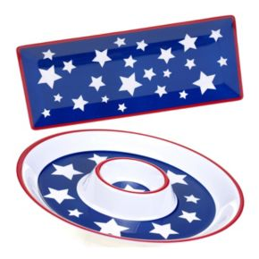 Certified International Stars & Stripes 2-pc. Appetizer Set