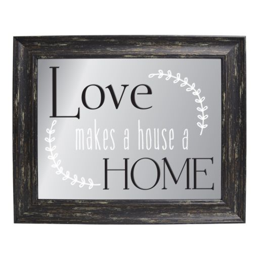 "Belle Maison ""Love Makes A Home"" Framed Wall Art"