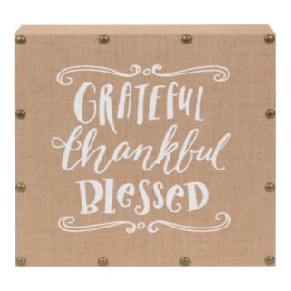 "Belle Maison ""Grateful Thankful Blessed"" Wall Art"