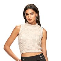 Women's Jennifer Lopez Metallic Crop Mockneck Sweater