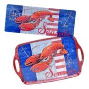 Certified International Maritime Lobster 2 pc Platter Set