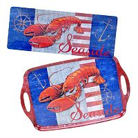 Certified International Maritime Lobster 2 pc Platter Set