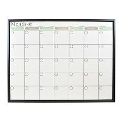 Belle Maison Monthly Calendar Dry Erase Board